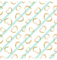gold heart seamless pattern white-blue geometric vector image vector image