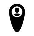 gps tracker icon male user person profile avatar vector image