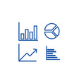 graphs line icon concept graphs flat vector image vector image