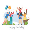 group happy diverse friends celebrating a happy vector image vector image