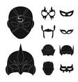 hero and mask icon set of vector image