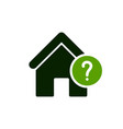 house icon with question mark vector image