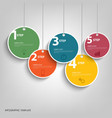Info graphic with hanging colored circles template vector image vector image