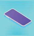 isometric smartphone template big screen vector image