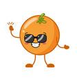 kawaii orange cartoon character vector image