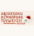 ketchup font vector image