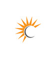 letter c logo design template vector image vector image
