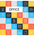 line art business office icons set vector image vector image