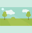 nature landscape background cute simple vector image vector image