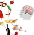 neurogastronomy vector image vector image