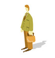 office worker with briefcase - functionary vector image vector image