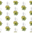 olive oil seamless pattern vector image vector image