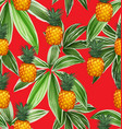 pineapples seamless patter10 vector image vector image