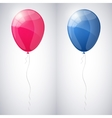 Pink and blue shiny glossy balloons vector image vector image