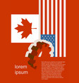 politic relationship between usa and canada vector image vector image