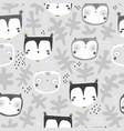 seamless childish owl pattern creative kids vector image