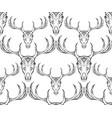 seamless texture deer skull with horns and boho vector image