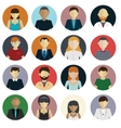 set avatar flat design icons on white vector image vector image