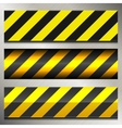 set danger and police warning lines vector image