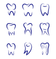 Set modern logo for dentistry Logo for dental vector image vector image