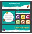 set of banners for web design with cute birds vector image vector image
