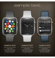 Set of smart watch vector image vector image