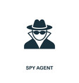 spy agent icon premium style design from security vector image vector image