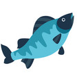 stylized of fish image for design vector image