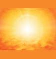 summer orange geometric background vector image vector image