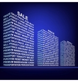 The building made up of words Trade vector image