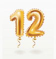 the number for birthday balloon number twelve vector image vector image