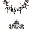 thorn crown with golgotha vector image