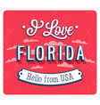 vintage greeting card from florida vector image vector image