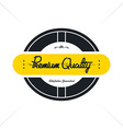 vintage quality badge theme vector image