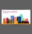 winstonsalem city architecture silhouette vector image