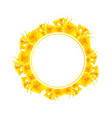 yellow canna lily banner wreath vector image vector image