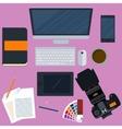 a workplace designer vector image