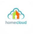 home cloud arrow logo vector image