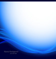 Abstract wavy blue background vector image