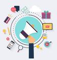 Digital marketing concept Hand Holding Megaphone vector image