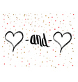 Valentines Day Calligraphy Greeting Card vector image