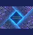 abstract glowing technology background vector image vector image