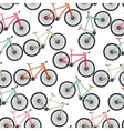 Bicycle Silhouette Seamless Pattern Background vector image vector image