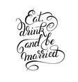 black and white handwritten lettering inscription vector image vector image