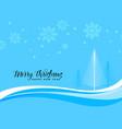 blue christmas beautiful scene background vector image vector image