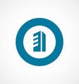 building bold blue border circle icon vector image vector image