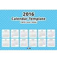 calendar 2016 year template vector image vector image