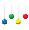 christmas ball blue yellow green red vector image