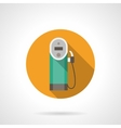 Color button for gas station Flat icon vector image