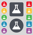 Conical Flask icon sign A set of 12 colored vector image vector image